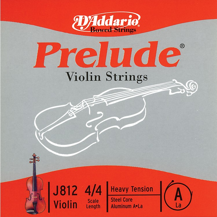 D'Addario J812 Prelude 4/4 Violin Single A String Aluminum Wound Heavy