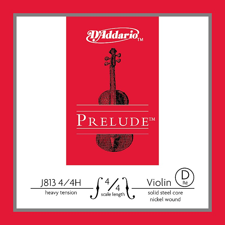 D'Addario J813 Prelude 4/4 Violin Single D String Nickel Wound