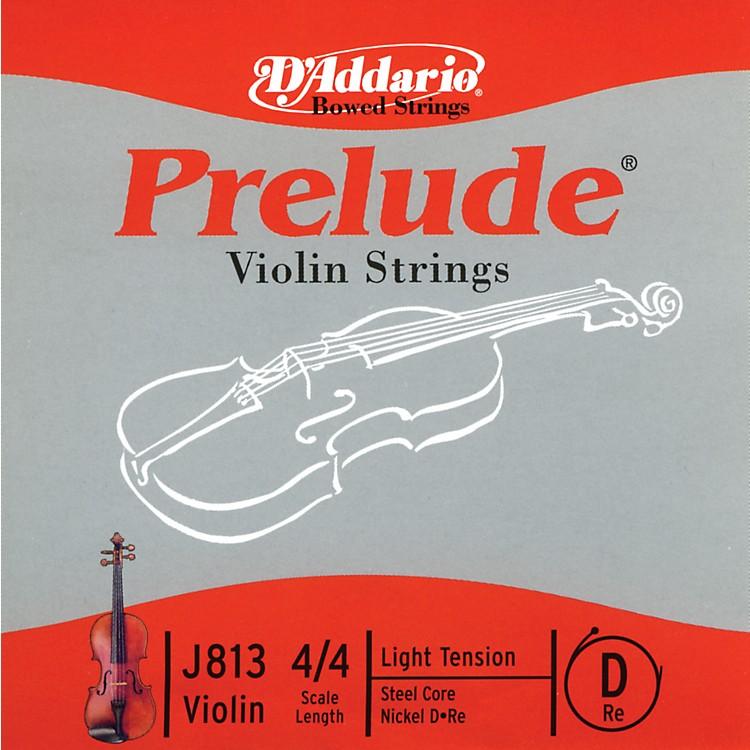 D'AddarioJ813 Prelude 4/4 Violin Single D String Nickel WoundLight