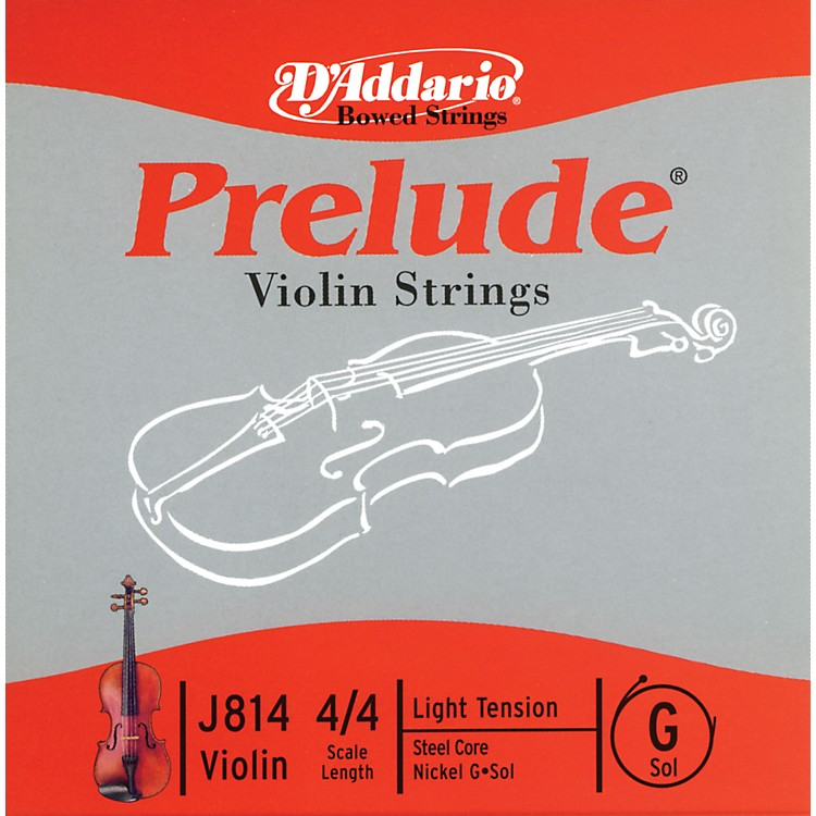 D'Addario J814 Prelude 4/4 Violin Single G String Nickel Wound Light