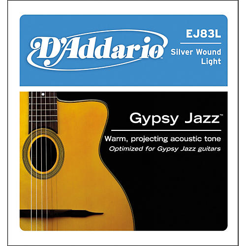 D'Addario J83L05 Gypsy Jazz Silver Wound Single Acoustic Guitar String-thumbnail