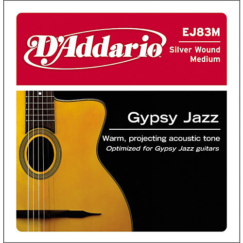 D'Addario J83M05 Gypsy Jazz Silver Wound Single Acoustic Guitar String-thumbnail