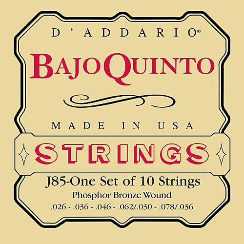 D'Addario J85 Phosphor Bronze Bajo Quinto String Set