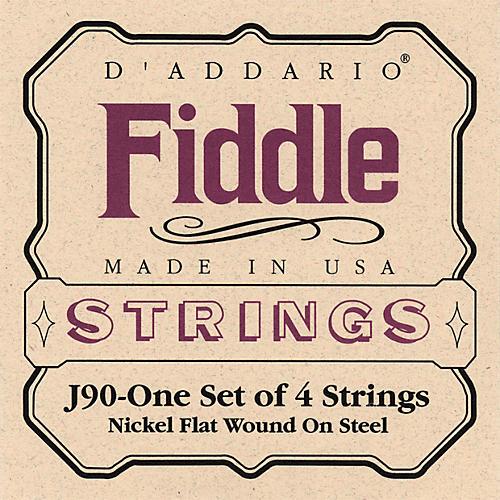 D'Addario J90 Fiddle 4/4 Size Chrome/Steel String Set-thumbnail