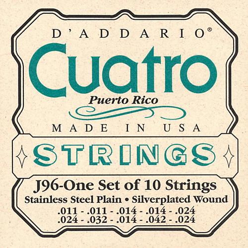 D'Addario J96 Cuatro Puerto Rico String Set