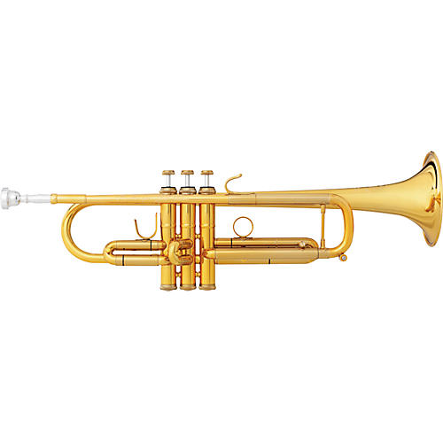 B&S JBX-GL Challenger II Bb Trumpet Gold Lacquer Reverse Leadpipe