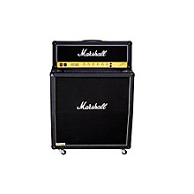 Marshall JCM800 2203 Vintage Series 100W Guitar Tube Head with 1960AV 280W 4x12 Cab Angled