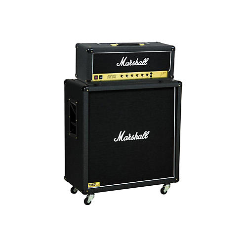 marshall jcm800 2203 vintage series 100w guitar tube head with 1960b 300w 4x12 cabinet straight. Black Bedroom Furniture Sets. Home Design Ideas