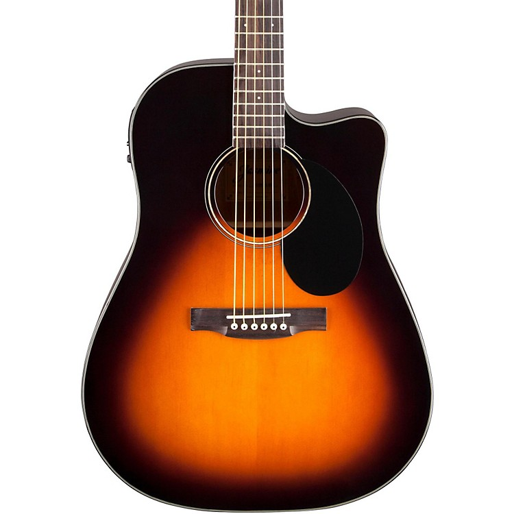 JasmineJD-39 Dreadnought Acoustic-Electric GuitarBlack