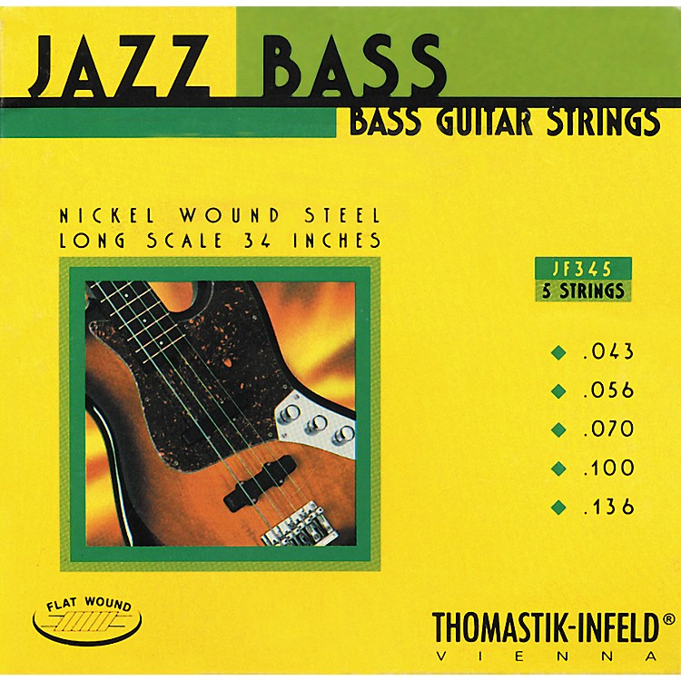 Thomastik JF345 Flatwound 5-String Jazz Bass Strings