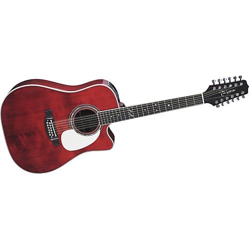 Takamine JJ325SRC12 John Jorgenson Signature 12-String Acoustic-Electric Guitar Gloss Red Stain