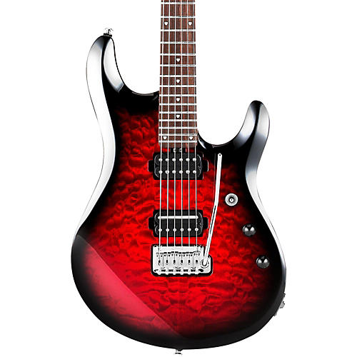 Sterling by Music Man JP100D Electric Guitar Ruby Red Burst