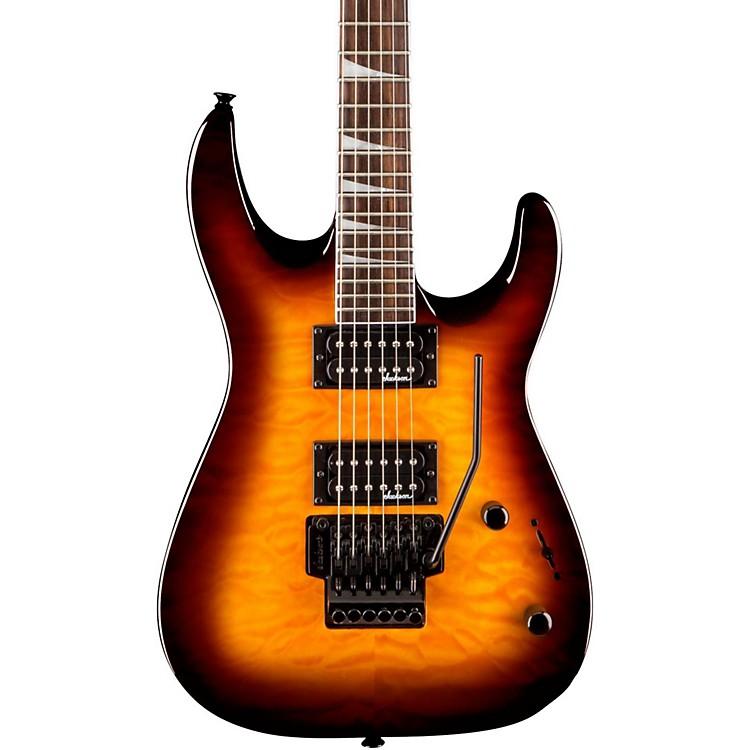 JacksonJS32Q Dinky DKA Quilt Maple Top Electric GuitarTrans Amber