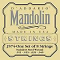 D'Addario JS74 Stainless Steel Mandolin Strings Medium  Thumbnail