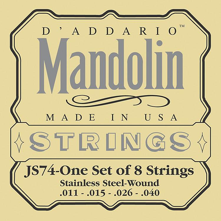 D'AddarioJS74 Stainless Steel Mandolin Strings Medium