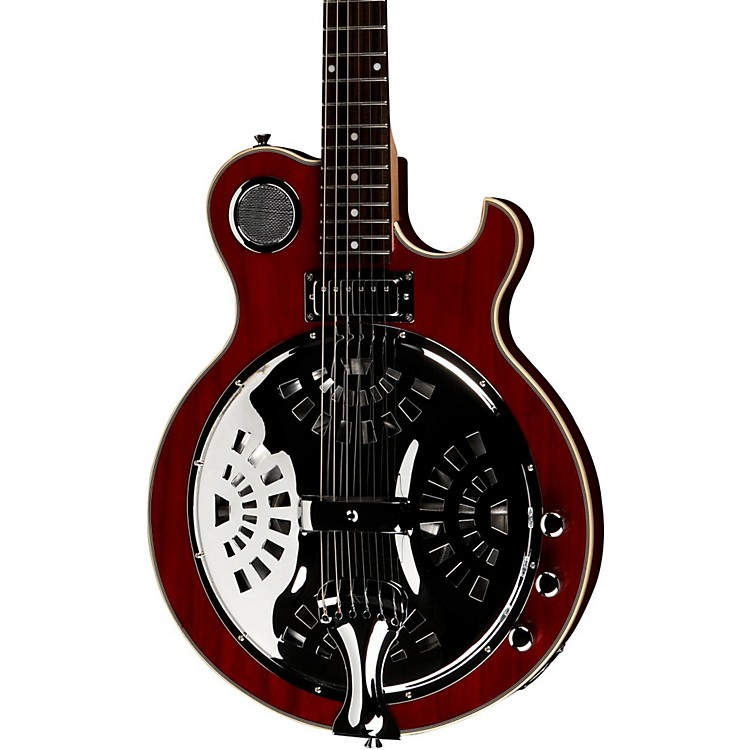 Jay Turser JT-Res Electric Resonator Guitar See-Thru Red