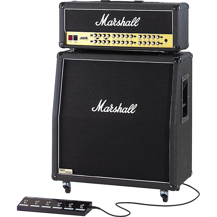 Marshall JVM410H and 1960AV Half Stack Angled