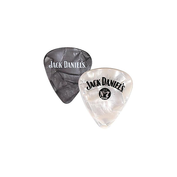 Peavey Jack Daniel's Pearloid Guitar Picks - One Dozen Black Pearl Medium