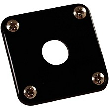 Gibson Jack Plate with Screws Black