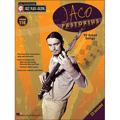 Hal Leonard Jaco Pastorius - Jazz Play-Along Volume 116 (CD/Pkg)