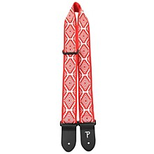 Road Runner Jacquard Latin/Checker Guitar Strap Red Foil 2 in.