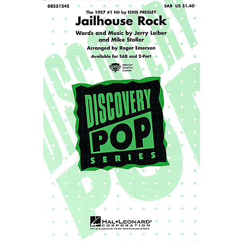 Hal Leonard Jailhouse Rock SAB by Elvis Presley arranged by Roger Emerson-thumbnail