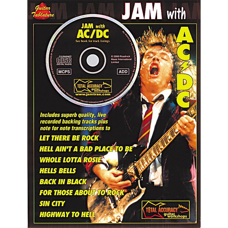 Music SalesJam with AC/DC Guitar Tab Songbook with CD