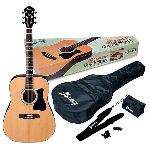 Ibanez JamPack IJV50 Quickstart Dreadnought Acoustic Guitar Pack Natural
