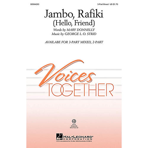 Hal Leonard Jambo, Rafiki (Hello, Friend) 3-Part Mixed composed by Mary Donnelly