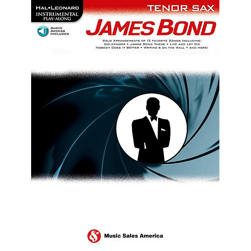 Music Sales James Bond For Tenor Sax - Instrumental Play-Along Book/Online Audio-thumbnail