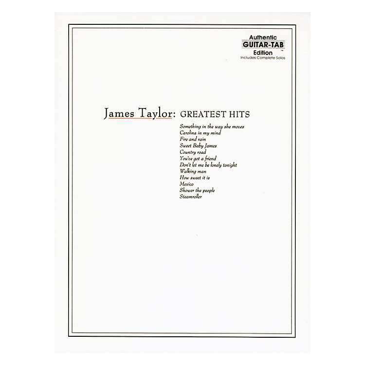 Alfred James Taylor Greatest Hits Guitar Tab Book
