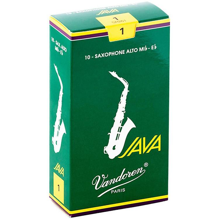 VandorenJava Alto Saxophone ReedsStrength - 3, Box of 10