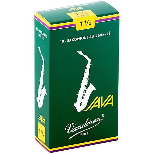 Vandoren Java Alto Saxophone Reeds Strength - 1.5, Box of 10