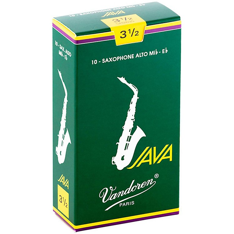 VandorenJava Alto Saxophone ReedsStrength - 3.5, Box of 10