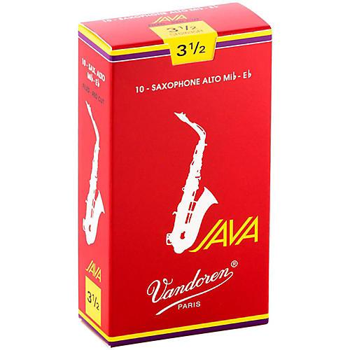 Vandoren Java Red Alto Saxophone Reeds Strength 3.5, Box of 10
