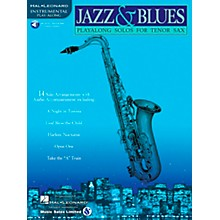 Hal Leonard Jazz And Blues Playalong Solos for Tenor Sax Book/CD
