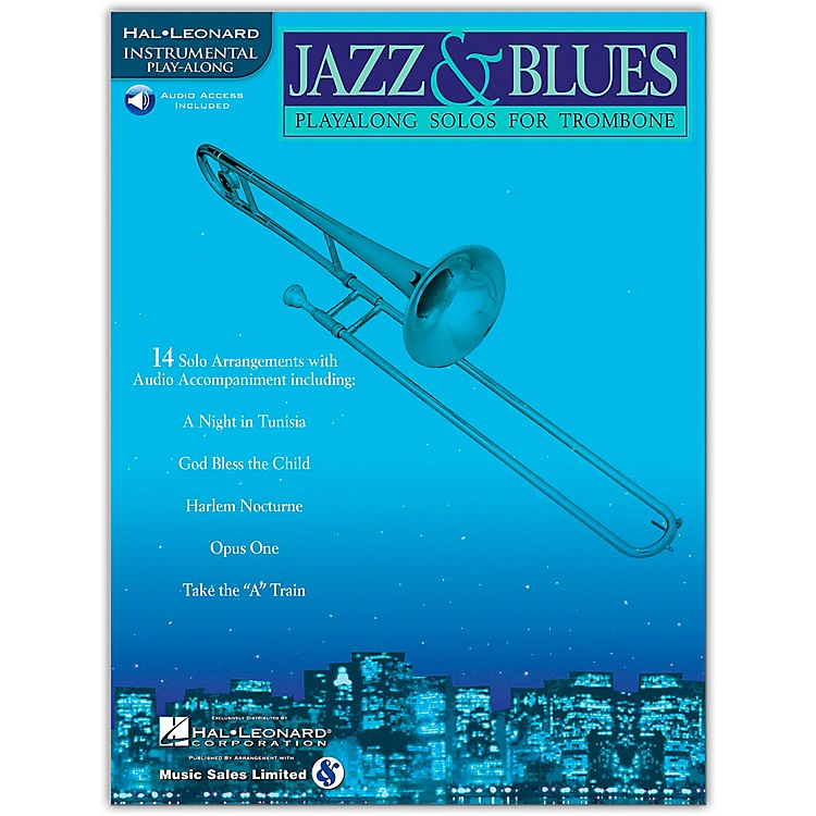 Hal Leonard Jazz And Blues Playalong Solos for Trombone Book/CD