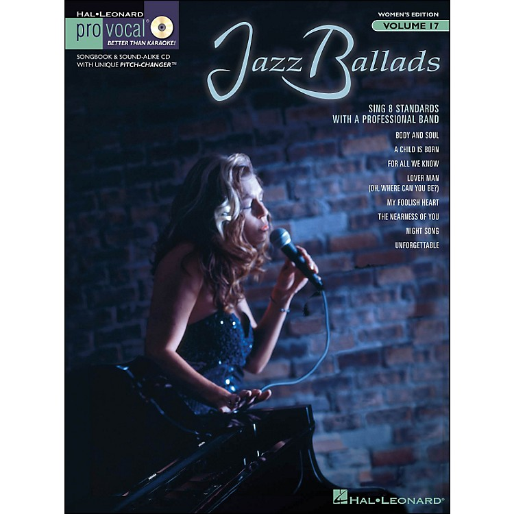 Hal Leonard Jazz Ballads - Pro Vocal Songbook & CD for Female Singers Volume 17