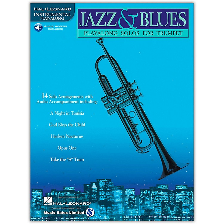Hal Leonard Jazz & Blues Playalong Solos for Trumpet (Book/CD)