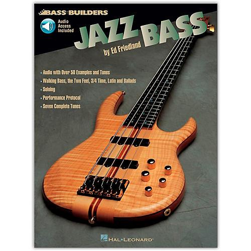 Hal Leonard Jazz Builders Jazz Bass (Book/Online Audio)-thumbnail