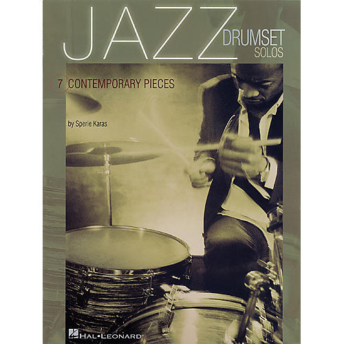 Hal Leonard Jazz Drumset Solos (Seven Contemporary Pieces) Percussion Series Softcover Written by Sperie Karas-thumbnail