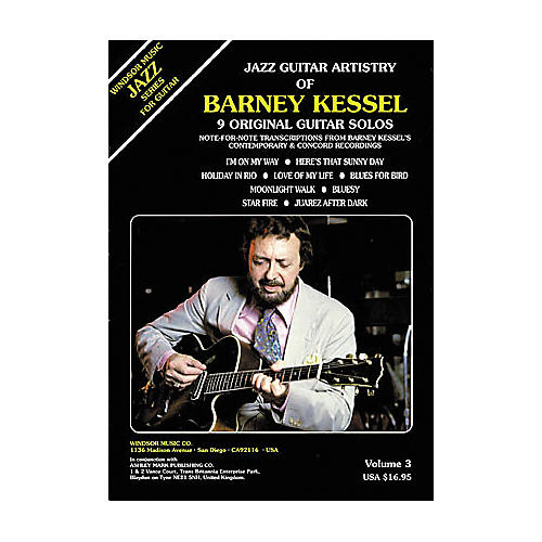 Ashley Mark Jazz Guitar Artistry of Barney Kessel Volume 3 Tab Book