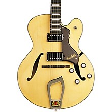 Hagstrom Jazz Model HJ-500 Semi-Hollow Electric Guitar Natural