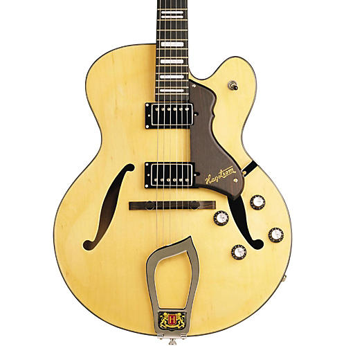 Hagstrom Jazz Model HJ-500 Semi-Hollow Electric Guitar Natural