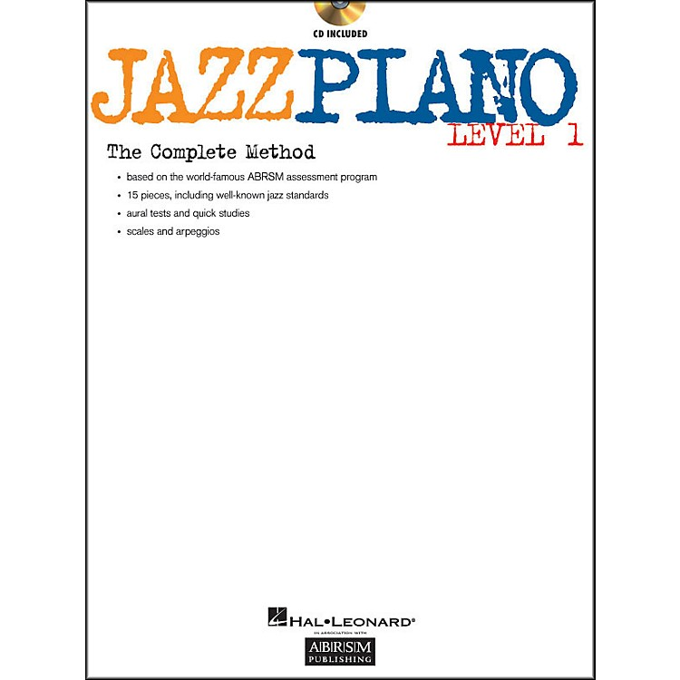 Hal Leonard Jazz Piano Level 1 Book/CD Abrsm