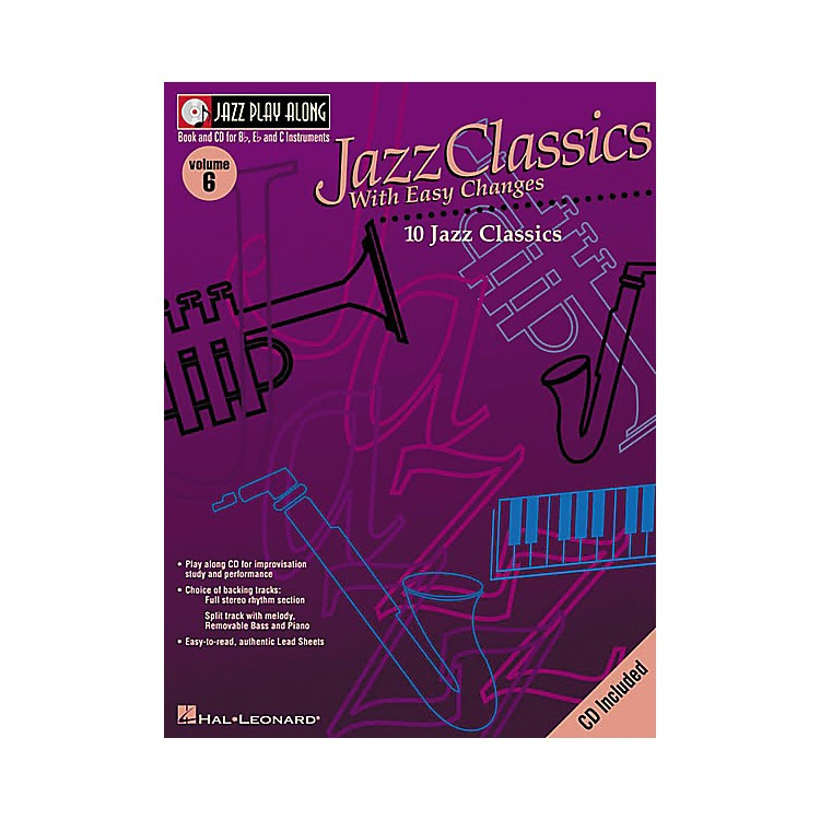 Hal Leonard Jazz Play-Along Series Jazz Classics with Easy Changes Book with CD