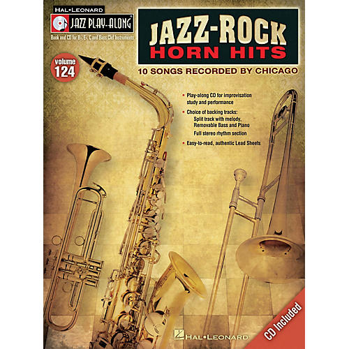 Hal Leonard Jazz-Rock Horn Hits Jazz Play Along Series Softcover with CD by Chicago-thumbnail
