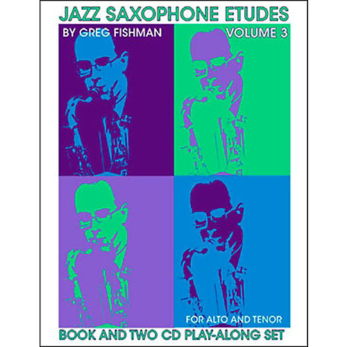 Jamey Aebersold Jazz Saxophone Etudes Vol. 3 Book and CDs