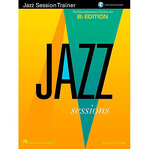 Hal Leonard Jazz Session Trainer - The Woodshedder's Practice Kit  B-Flat Edition (Book/Online Audio)-thumbnail