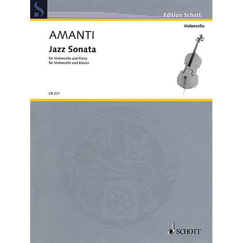 Schott Jazz Sonata (Violoncello and Piano) Schott Series Softcover Composed by Lucio Franco Amanti-thumbnail